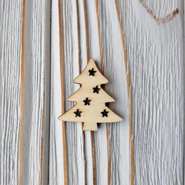 декор дерево елка со звездами