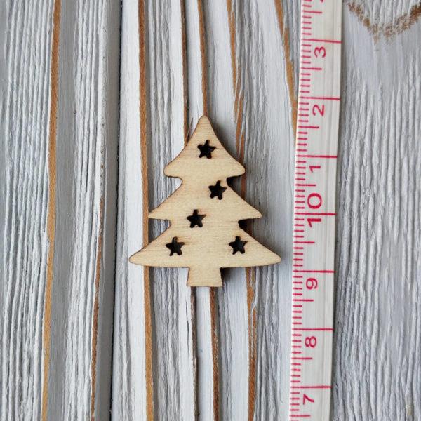 декор дерево елка со звездами с линейкой