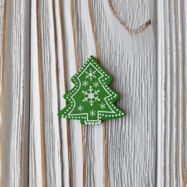 декор дерево елка зеленая