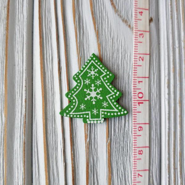 декор дерево елка зеленая с линейкой