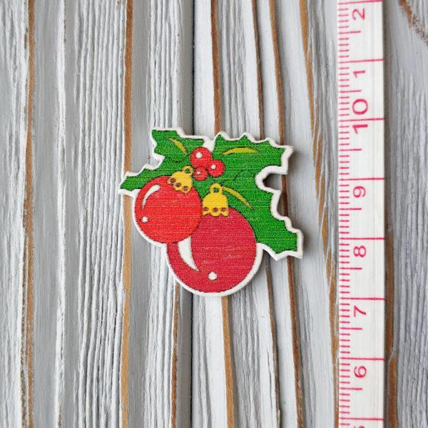 декор дерево новогодние шары с линейкой