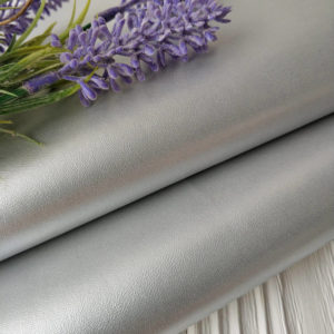 кожзам серебро