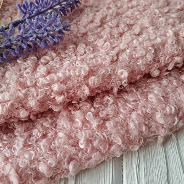 мех барашек пудрово-розовый