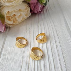 наперсток-кольцо золото