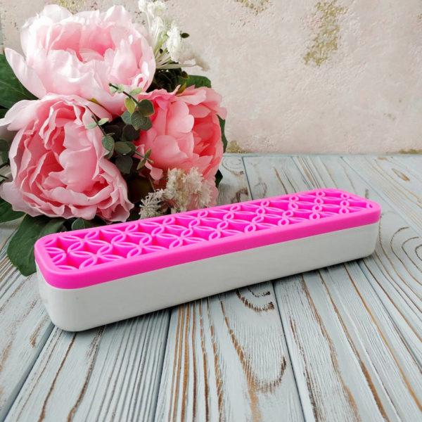 органайзер настольный ярко-розовый