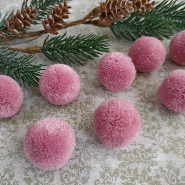 помпон искусственный пудрово-розовый
