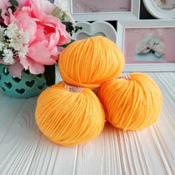 пряжа Fashion Acril желто-оранжевый №37