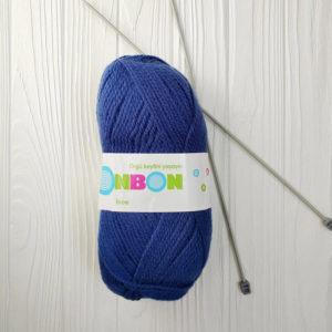 пряжа NAKO BONBON INCE синий №98421