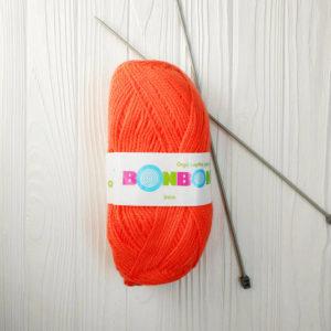 пряжа NAKO BONBON INCE ярко-оранжевый №98212