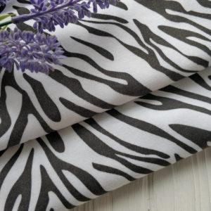 трикотаж интерлок зебра