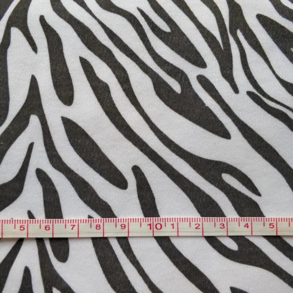 трикотаж интерлок зебра с линейкой