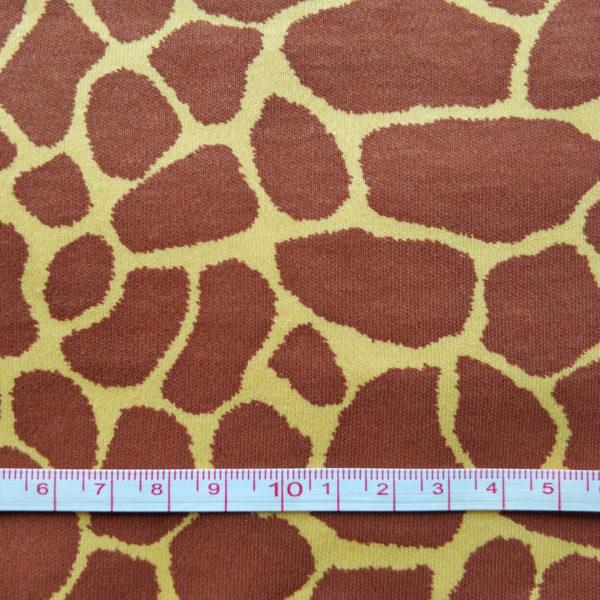 трикотаж интерлок жираф с линейкой
