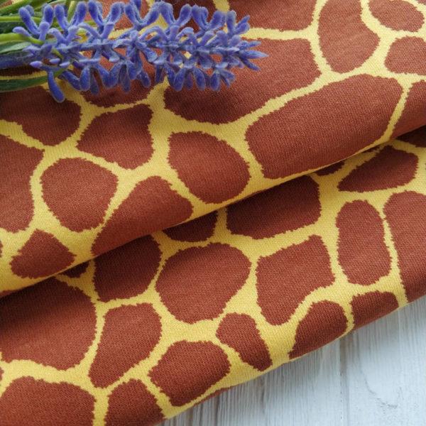 трикотаж интерлок жираф