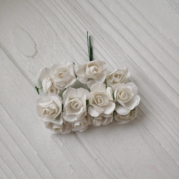 букет розы бумага белый2