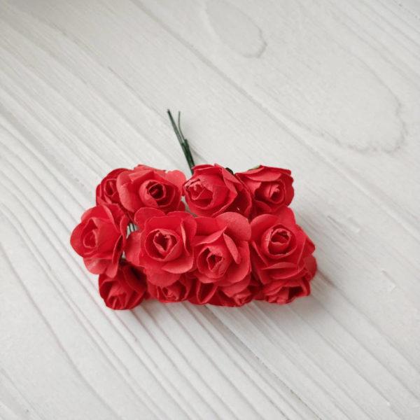 букет розы бумага красный2