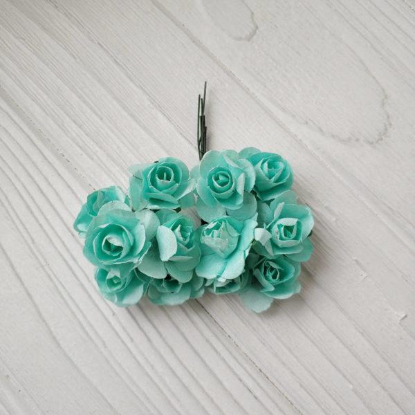 букет розы бумага мятный2
