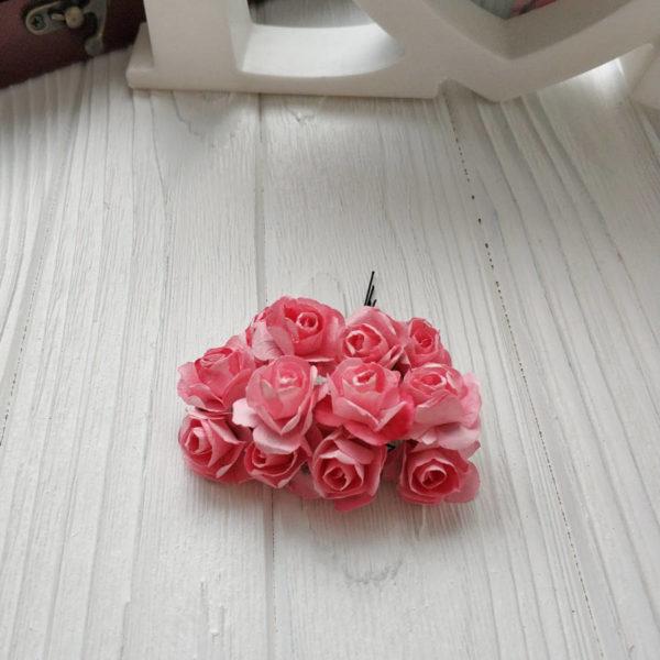 букет розы бумага розовый