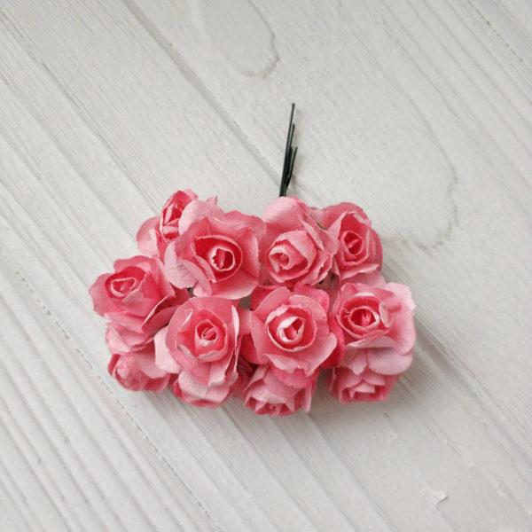 букет розы бумага розовый2
