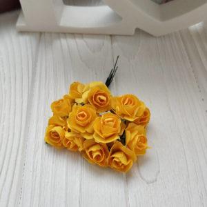 букет розы бумага желтый