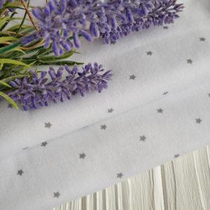 интерлок белый с серыми звездочками