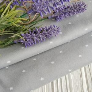 интерлок серый с белыми звездочками