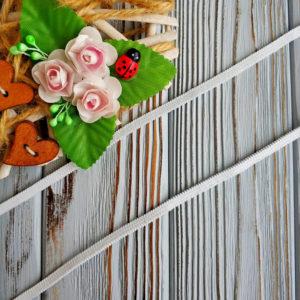 резинка бельевая вдежка белая 4мм