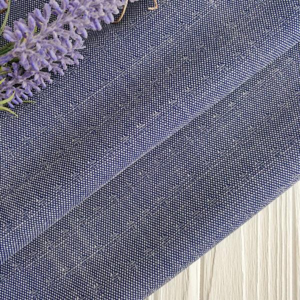 ткань костюмная жаккард синий