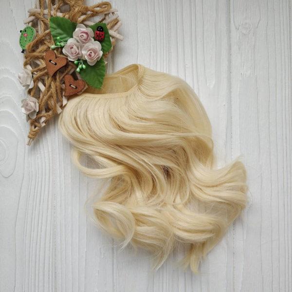 трессы крупная волна 17см блондин №88