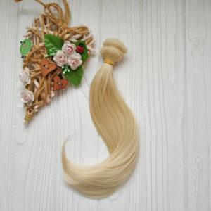 трессы легкая волна 20см блондин №613А