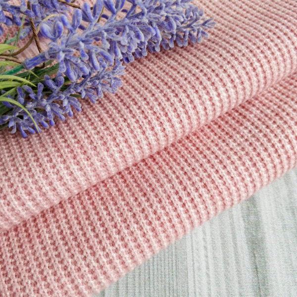 трикотаж-резинка крупная вязка пудрово-розовый
