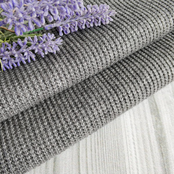 трикотаж-резинка крупная вязка серый