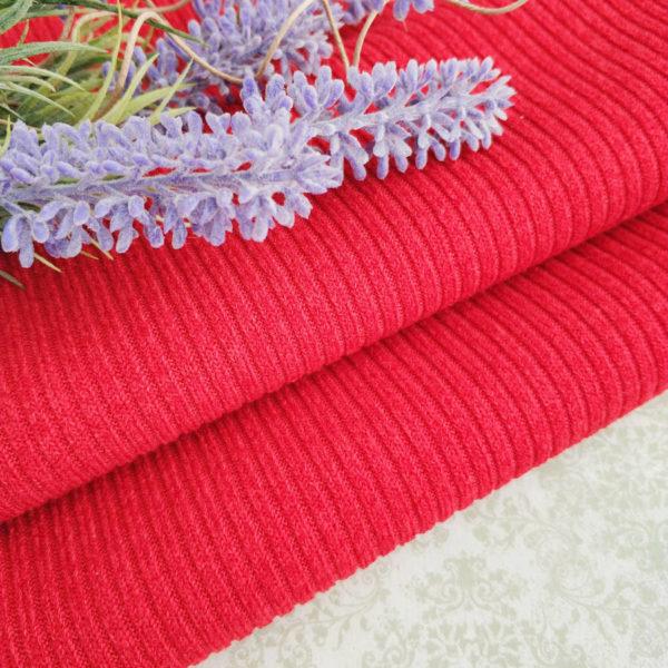 трикотаж-резинка вязаная красный