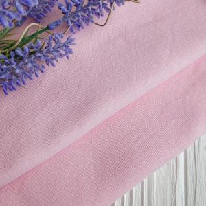 трикотаж рибана светло-розовый