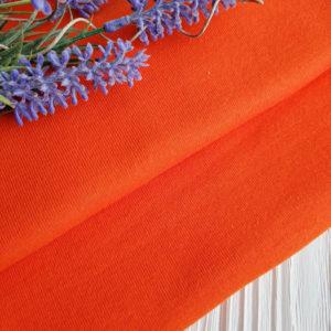 трикотаж рибана ярко-оранжевый