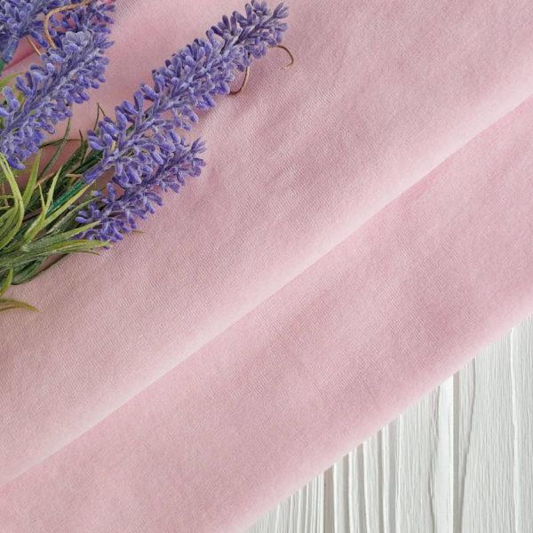трикотаж велюр светло-розовый