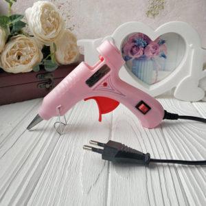 клеевой пистолет розовый