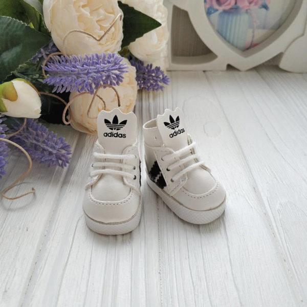 кроссовки бренд 5см белые