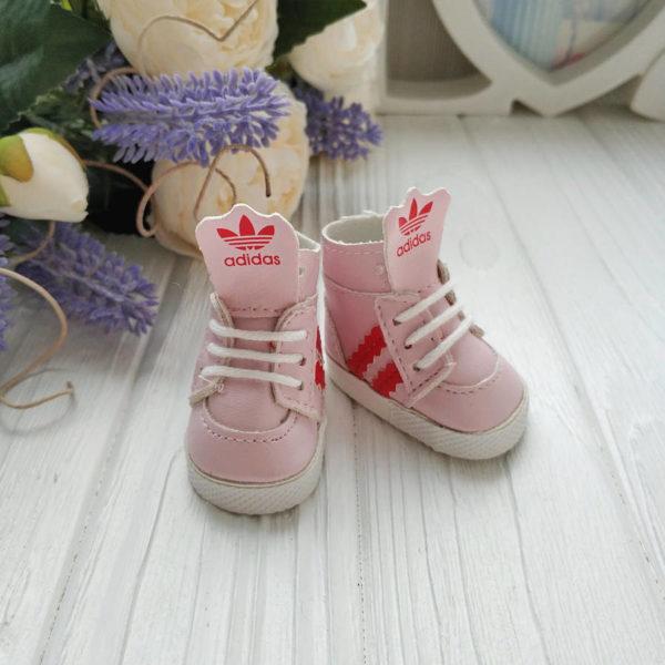 кроссовки бренд 5см розовые