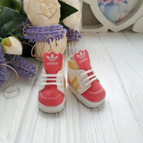 кроссовки бренд 5см розовые с золотом