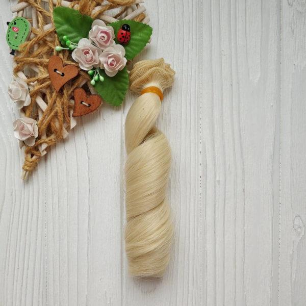трессы локон 15см блондин №5