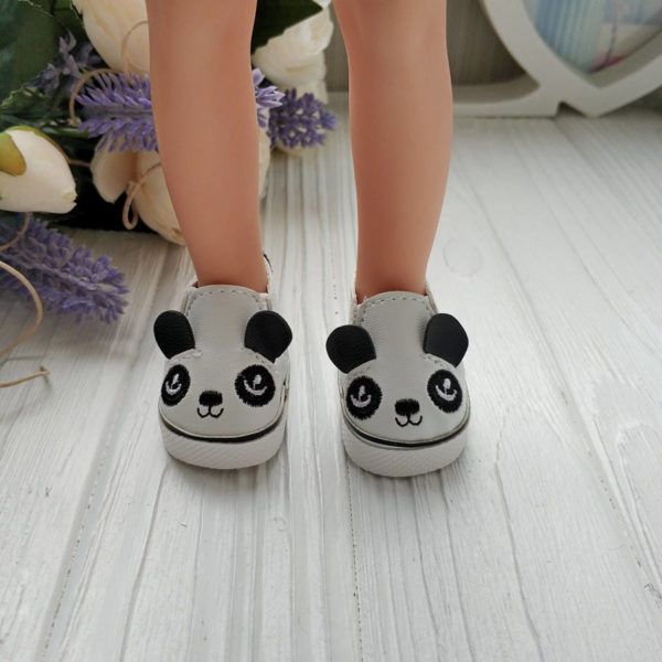 мокасины панда 5см на ногах