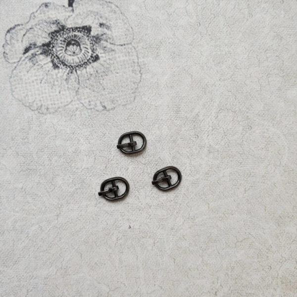 пряжка с язычком 1см темный никель