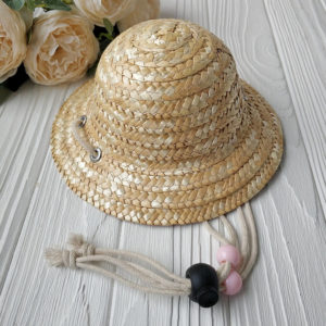 шляпка соломенная большая 9,5см