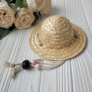 шляпка соломенная малая 8см