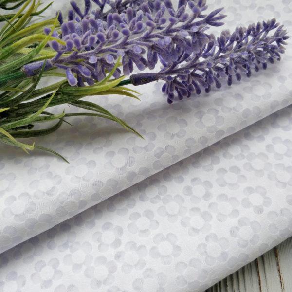 хлопок вытравка цветочек белый