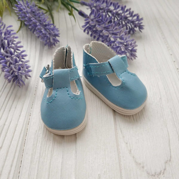 сандалии 5см голубые
