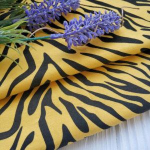трикотаж интерлок тигр