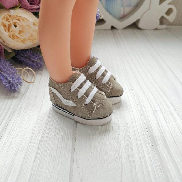кроссовки 5.5см замш хаки на ноге
