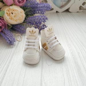 кроссовки бренд 5см белые с золотом
