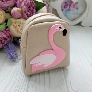 рюкзак фламинго бежевый